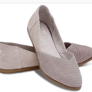 Toms Jutti Embossed Suede Flats